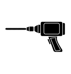 drill construction tool vector image vector image