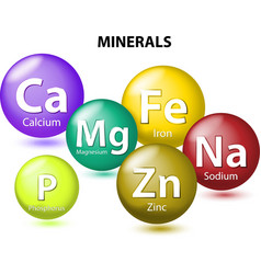 Essential chemical minerals vector