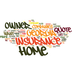 Find a low rate georgia home owner insurance vector