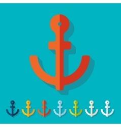 Flat design anchor vector