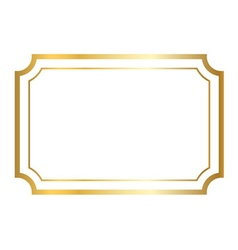 Gold frame golden white vector