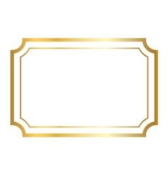 Gold frame golden white vector