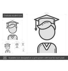 Graduate student line icon vector