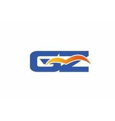 Gz letter logo vector
