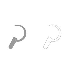 headset it is icon vector image vector image