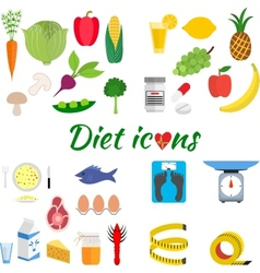 Healthy lifestyle a healthy diet and daily vector image vector image