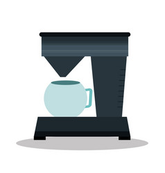Home appliance coffee machine isolated icon vector
