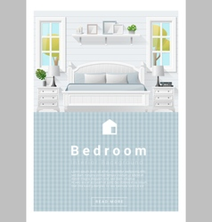Interior design modern bedroom banner 9 vector