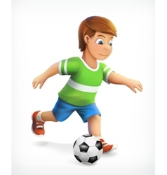 Little football playe vector