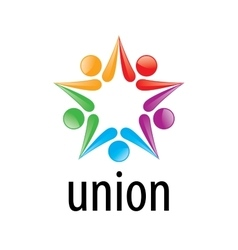 logo union people vector image