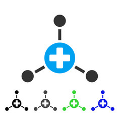 Medical center flat icon vector