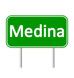 Medina road sign vector