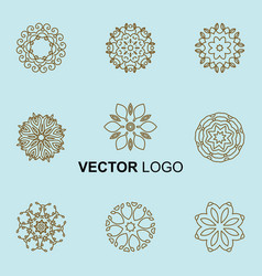 Modern stylish logo elements vector