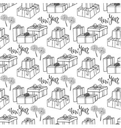 New year gift paper wrapping seamless pattern vector