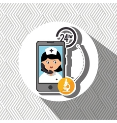 Nurse 24-hour health lab isolated icon design vector