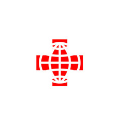 Red cross logo vector