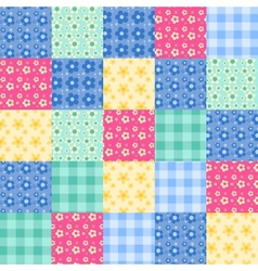 Seamless patchwork vector