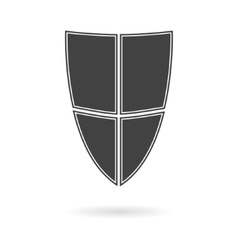 shield icon logo vector image