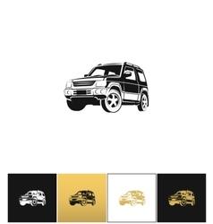 Suv car icon vector