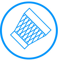Trash bin line icon vector