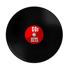 Vinyl record 60s hits vector