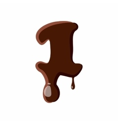 Number 1 from latin alphabet made of chocolate vector