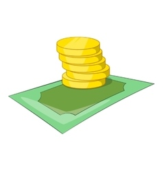 Coins icon isometric style vector