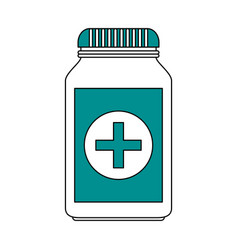 Medication pills healthcare icon image vector