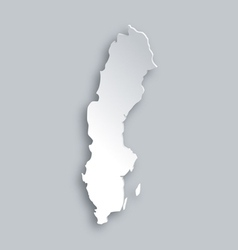 Map of sweden vector