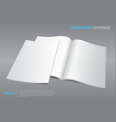 Blank magazine mockup template vector