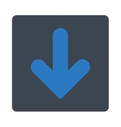 Arrow down flat smooth blue colors rounded button vector