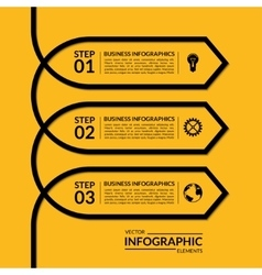 Simple infographic arrow template vector