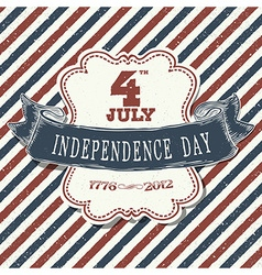 Greeting card for fourth of july holiday vector