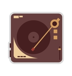 Vinyl record player icon vector