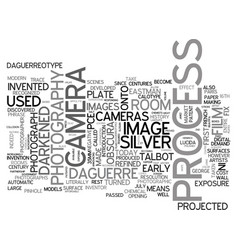A brief history of photography text word cloud vector