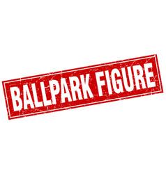 Ballpark figure square stamp vector