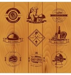 Bbq vintage logo set vector