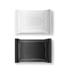 Black amp white wet wipes package realistic vector