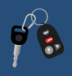 car key with auto access padlock vector image