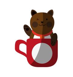 Cat cartoon pet animal icon image vector
