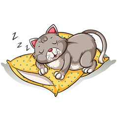 Cat taking a nap vector image