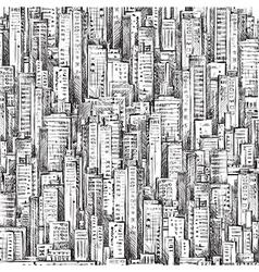 Cityscape hand-drawn vector