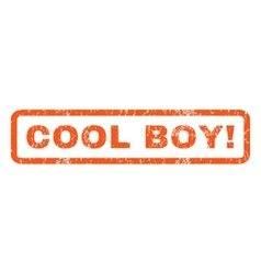 Cool boy rubber stamp vector