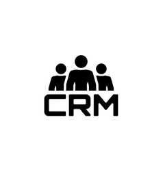 crm system icon flat design vector image
