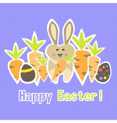 Easter colorful purple card template vector
