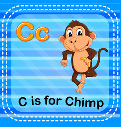 Flashcard letter c is for chimp vector