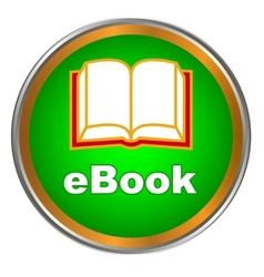 Green ebook icon vector