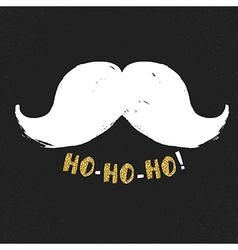 Ho-Ho-Ho Gold letters on black textured background vector image vector image