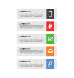 Infographic templates for business on white vector