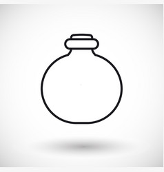 Jar thin line web icon vector